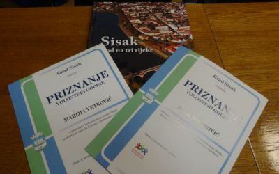LDA Sisak volunteers received Town of Sisak reward