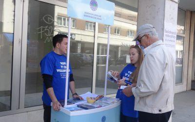 LDAS Sisak informing citizens about volunteering