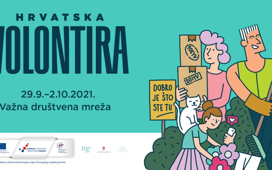 Hrvatska volontira 2021. – Poziv organizatorima volontiranja za prijavu volonterskih aktivnosti