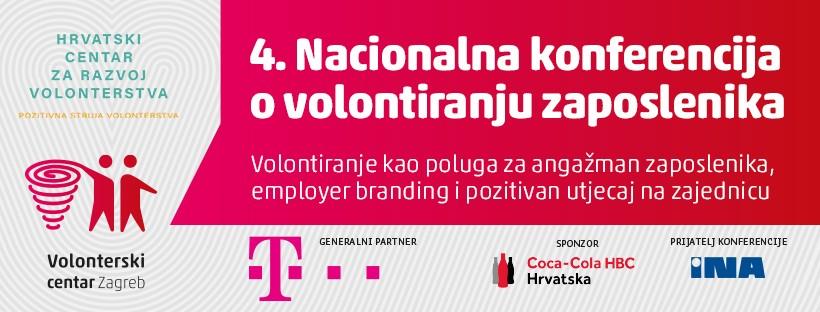 Poziv na 4. Nacionalnu konferenciju o volontiranju zaposlenika